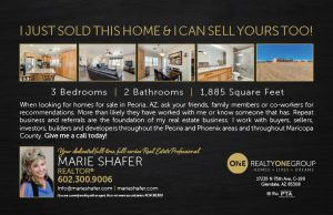 Just Sold by Marie Shafer Homes for Sale